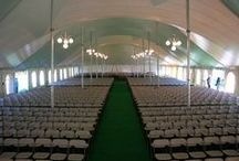 TENT PHOTOS / See our different tent styles and dance floor. Some show different lighting options as well. Call for tent pricing & sizing~!