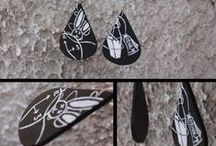 handpainted jewellery / Handpainted jewellery by me! You can see more in my fb page :https://www.facebook.com/Vasilikicreates