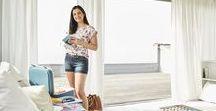 VALISE VACANCES DE SANDRA / Lookbook mode femme de la collection été 2018 de chez Grain de Malice. Shoppez le look en magasin ou sur www.graindemalice.fr