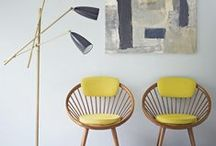 Mid century modern interiors / Interiors we love. Perfect mix of vintage and modern.