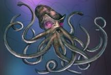 Kraken from the Deep! (and his sea friends) / This gallery contains characters from Nightmares from the Deep: The Cursed Heart.  www.artifexmundi.com/page/piraci2