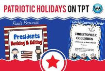 Patriotic Holidays on TPT / This collaborative board is for TPT sellers to pin free and paid patriotic holiday products (I.e., Presidents' Day, Memorial Day, July 4th, Constitution Day, Veterans' Day, etc.) & ideas. If interested in pinning to this board, follow it and then send us an email at info@watsonworksedu.com and request to be added. Then, come back and pin as much as you like! :)