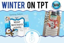 Winter on TPT / This collaborative board is for TPT sellers to pin free and paid winter-themed products & ideas. If interested in pinning to this board, follow it and then send us an email at info@watsonworksedu.com and request to be added. Then, come back and pin as much as you like! :)