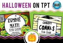 Halloween on TPT / This collaborative board is for TPT sellers to pin free and paid Halloween products. If interested in pinning to this board, follow it and then send us an email at info@watsonworksedu.com and request to be added. Then, come back and pin as much as you like! :)