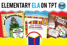 Elementary ELA on TPT / This collaborative board is for TPT sellers to pin free and paid elementary ELA products & ideas. If interested in pinning to this board, follow it and then send us an email at info@watsonworksedu.com and request to be added. Then, come back and pin as much as you like! :)