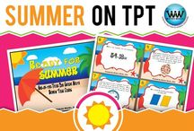 Summer on TPT / This collaborative board is for TPT sellers to pin free and paid summer-themed products. If interested in pinning to this board, follow it and then send us an email at info@watsonworksedu.com and request to be added. Then, come back and pin as much as you like! :)