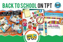 Back to School on TPT / This collaborative board is for TPT sellers to pin free and paid Back to school products and ideas. If interested in pinning to this board, follow it and then send us an email at info@watsonworksedu.com and request to be added. Then, come back and pin as much as you like! :)