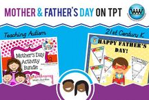 Mother & Father's Day on TPT / This collaborative board is for TPT sellers to pin free and paid Mother & Father's Day products and ideas. If interested in pinning to this board, follow it and then send us an email at info@watsonworksedu.com and request to be added. Then, come back and pin as much as you like! :)