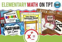 Elementary Math on TPT / This collaborative board is for TPT sellers to pin free and paid elementary math products & ideas. If interested in pinning to this board, follow it and then send us an email at info@watsonworksedu.com and request to be added. Then, come back and pin as much as you like! :)