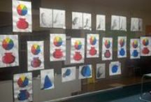 Awesome Art Show Ideas / We get tons of pictures from Art in Action school art shows with great space utilization solutions and mounting ideas.  We'd like to share.