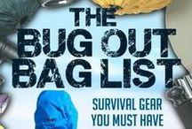 The Bug Out Bag / The perfect Bug Out Bag should have freeze-dried meals, water purification systems, clothing and emergency shelter.  Remember to pack basic medical supplies, necessary documents for the family, and tools. / by Nitro-Pak