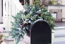 Outdoor Winter Decorating Ideas / Welcome guests to your home and celebrate the winter season with these outdoor decorating ideas.