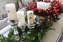 Holiday Tablescapes / Gather together around the table and celebrate the season with these lovely holiday tablescape ideas.