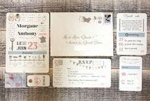 Faire-parts et save the date - Wedding invitations and save the date / Des idées pour des faire-part à votre image | Ideas for the wedding invitations you deserve