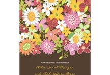 Wedding | Spring, Flowers, Floral, Sweet, Blooms, March, April, May / spring themed custom wedding invitations, dinner receptions invites, wedding shower party invites, wedding announcements, favor stickers, address labels, stamps, postage, thank you cards, save the dates + more! | zazzle products designed by fat*fa*tin | www.zazzle.com/fat_fa_tin* | www.zazzle.com/fatfatin_blue_knot* | www.zazzle.com/fatfatin_box* | www.zazzle.com/fatfatin_design* / by Fatfatin Art