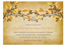 Wedding | Autumn, Fall, Leaves, September, October, November / autumn/fall themed custom wedding invitations, dinner receptions invites, wedding shower party invites, wedding announcements, favor stickers, address labels, stamps, postage, thank you cards, save the dates + more! | zazzle products designed by fat*fa*tin | www.zazzle.com/fat_fa_tin* | www.zazzle.com/fatfatin_design* | www.zazzle.com/fatfatin_box* | www.zazzle.com/fatfatin_blue_knot* | www.zazzle.com/fatfatin_red_knot* | www.zazzle.com/color_therapy* | www.zazzle.com/fatfatin_ink* / by Fatfatin Art