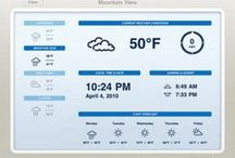 Tablet UI | Weather / Tablet Design Inspiration