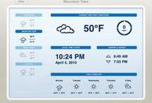 Tablet UI | Weather / Tablet Design Inspiration