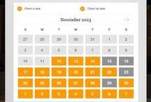 Tablet UI | Calendar / Tablet Design Inspiration