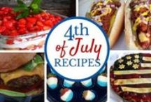 July 4th Recipes / Delicious dishes celebrating red, white and blue!