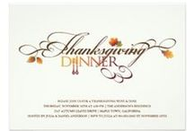 Thanksgiving / thanksgiving photo holiday greetings | dinner party invitations | custom matching stationery - address labels, gift tag stickers, postage or stamps, custom gifts, etc.