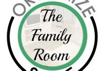 Organize Space: Family Room!