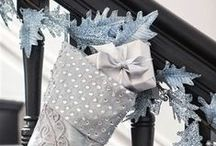 Winter Frost Theme / Evoke the atmosphere of a winter wonderland with the sophisticated hues of blue, platinum and bronze