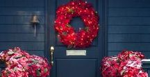 Front Porch Decorating / Create an elegant and welcoming porch with our assortment of premium outdoor topiaries, wreaths and garlands