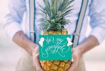 Mariage Tropical - Tropical wedding / Idée de décoration pour un mariage tropical, au tons chauds et colorés - Ideas for a tropical, sunset, colourful wedding under the sunlight