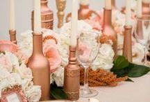 Mariage cuivré - Rose Gold Wedding / Des inspirations décoration pour un mariage aux tons cuivré - Inspired decoration to have a rose gold wedding