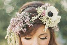Couronnes de Fleurs - Flower crowns / De jolies couronnes de fleurs pour une jolie mariée - Beautiful flower crows for a beautiful Bride