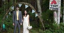 """Say """"I Do"""" to Glamping / Idées pour un mariage sur le thème du Glambing - Camoing chic et élégant"""