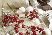 Snowhaven Theme / Lend the rustic elegance of a winter cabin with this collection of red and brown Christmas decorations