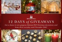 12 Days of Giveaways / Complete your holiday look with picture-perfect decorations from Balsam Hill! Join our 12 Days of Giveaways for a chance to be one of twelve daily winners of elegant Christmas decors. Contest ends on 11/26