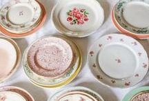Vaisselle Vintage / De la vaisselle vintage pour agrémenter la décoration de votre table de mariage
