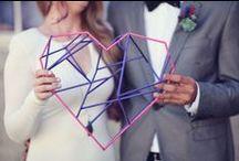 Mariage géométrique - geometric wedding / Des idées de décorations pour un mariage graphique et modern | Decoration ideas to have a modern and graphic wedding
