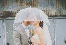 Mariage sous la pluie - Rainy day wedding / Parce qu'un mariage sous la pluie ça fait de jolies photos, voici quelques idées pour s'inspirer mais surtout être bien équipés !