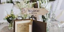 Mariage - Thème voyage | Wedding - Travel / Des idées pour un mariage sur le thème du voyage | Ideas to have a Travel Themed Wedding