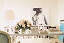 Desk Goals / Inspiration for a feminine home office or work space.