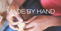 """Made By Hand / """"I want be able to wear something and have it have a soul behind it."""" - Donna Karan"""