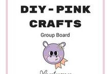 DIY - Basteln in Pink (pink crafts) / Hier findet ihr alle Bastelideen, die pink und/oder rosa enthalten. Ihr wollt mitmachen, dann schreibt gerne ein Mail an welovemonstamoons@yahoo.com