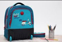 Back to School with DELSEY / The child's universe is staged here in this fun, practical and lightweight #schoolbags collection, perfectly adapted to our #kids body types!