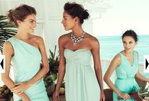 Bridesmaids / For all things bridesmaids: pale mint dresses, with a retro/mod vibe, nude heels, summer-y accessories, etc. / by Amanda