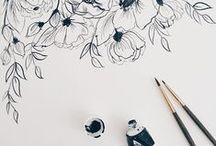 Dibujo / Drawing / Dibujos con variedad de técnicas: lápiz, tinta, boligrafo en blanco y negro, color...Animales, figura humana, paisajes, detalles...