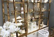 White And Gold / Our own pins from our website - www.shabbystore.co.uk or pinned from others. Stunning white and gold glam furniture pieces, accessories and lifestyle images.