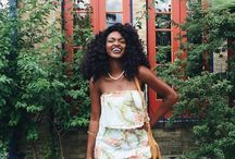 Inspo: Kiitan A (youtuber & fashion blogger) / http://instagram.com/kiitana  coz she's hair goals, outfit goals errthang goals
