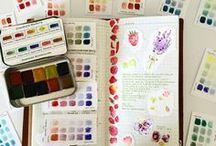 Paletas de color / Color palettes / Paletas de color con acuarelas