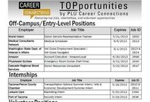 Featured Employers / Check out TOPportunities every other week and featured employers here! Locate job I.Ds on the Career Connections Opportunities Board. / by PLU Career Connections