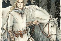 Keskiaika, metsä ja haltia piirustuksia