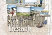 scrapping - beach layouts